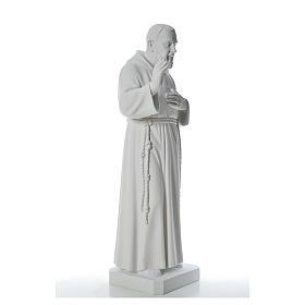 San Padre Pio 110cm polvo de mármol blanco s4