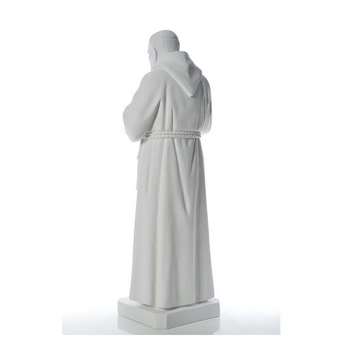 San Padre Pio 110cm polvo de mármol blanco 3