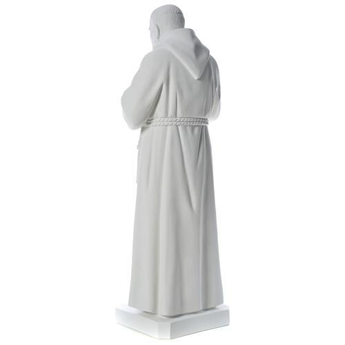 San Padre Pio 110 cm polvere di marmo bianco 5