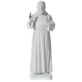 Padre Pio 110 cm mármore branco