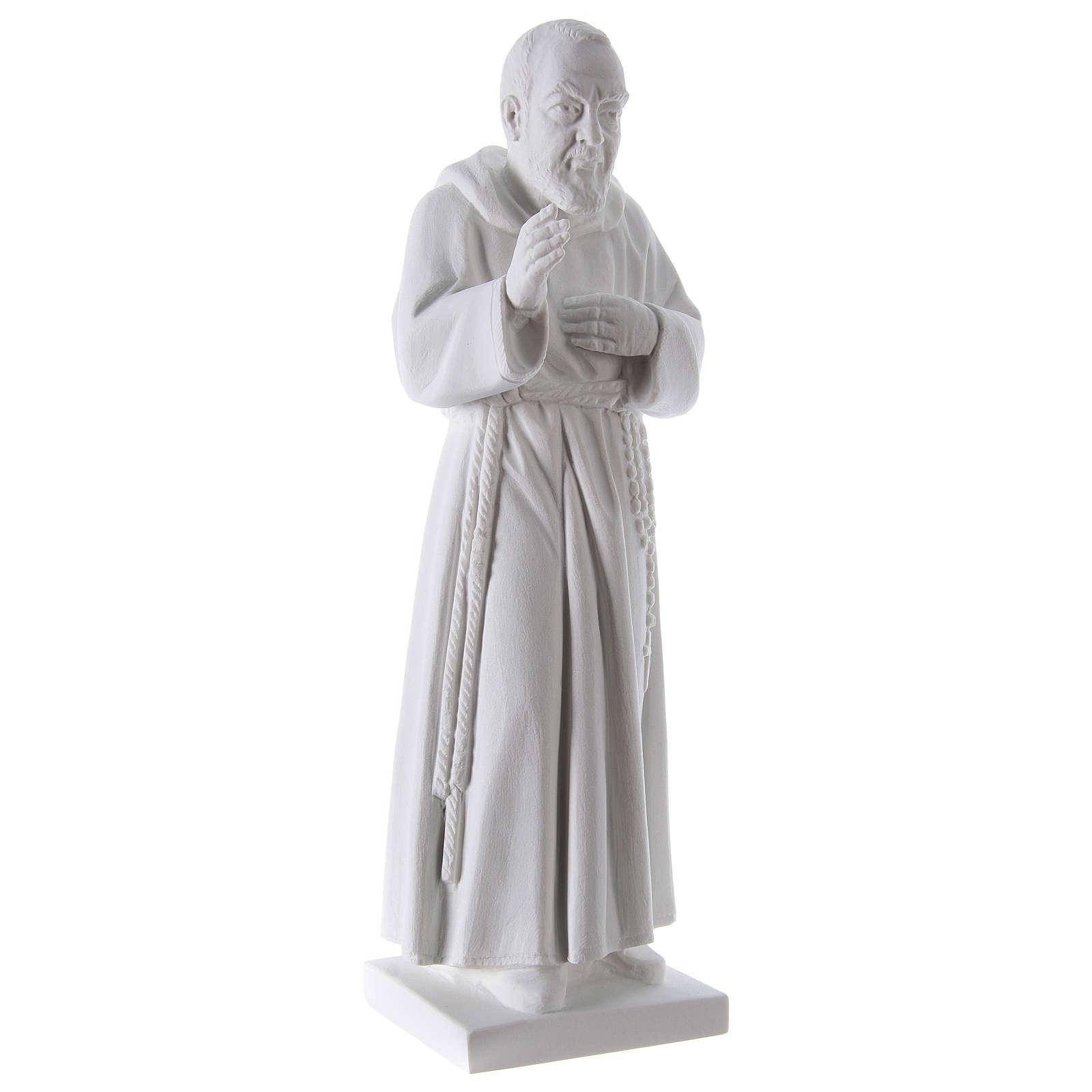 Padre Pio, 50 cm statue in reconstituted Carrara marble 4