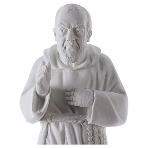 Padre Pio, 50 cm statue in reconstituted Carrara marble 2