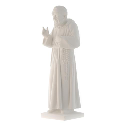 San Pio 50 cm polvere marmo di Carrara 2