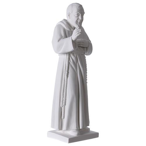 San Pio 50 cm polvere marmo di Carrara 4
