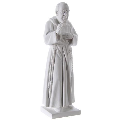 Święty Pio proszek marmurowy z Carrara 50 cm 4