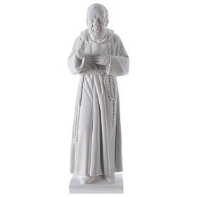 São Padre Pio 50 cm pó mármore de Carrara s1