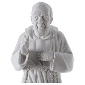São Padre Pio 50 cm pó mármore de Carrara s2