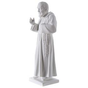 São Padre Pio 50 cm pó mármore de Carrara s3