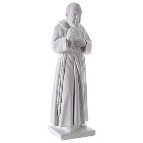 São Padre Pio 50 cm pó mármore de Carrara s4