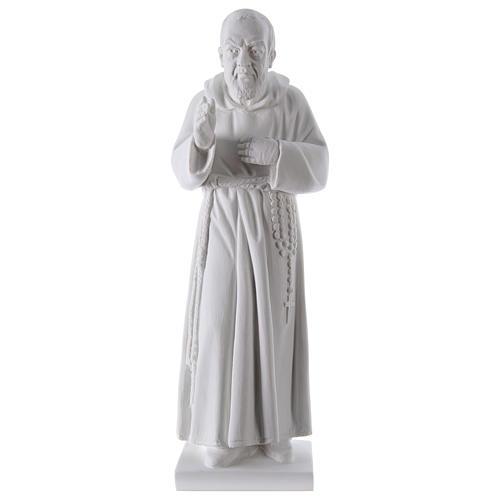 São Padre Pio 50 cm pó mármore de Carrara 1