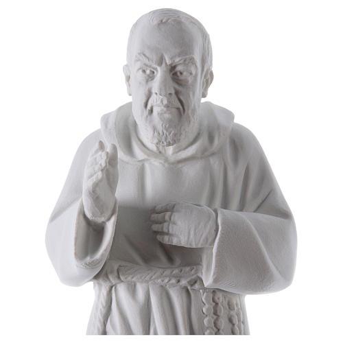 São Padre Pio 50 cm pó mármore de Carrara 2