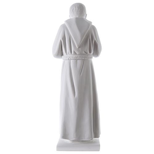 São Padre Pio 50 cm pó mármore de Carrara 5