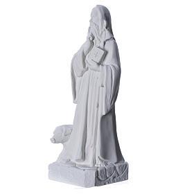 Sant'Antonio Abate 35 cm marmo bianco s6