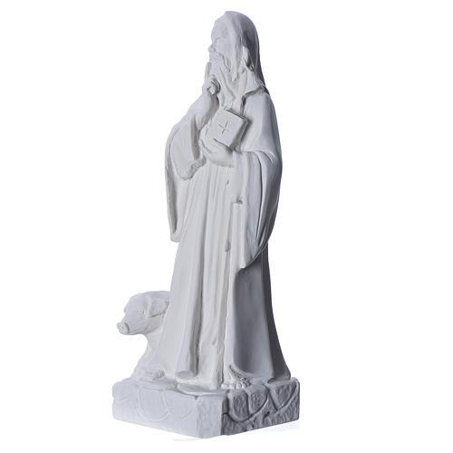 Sant'Antonio Abate 35 cm marmo bianco 2