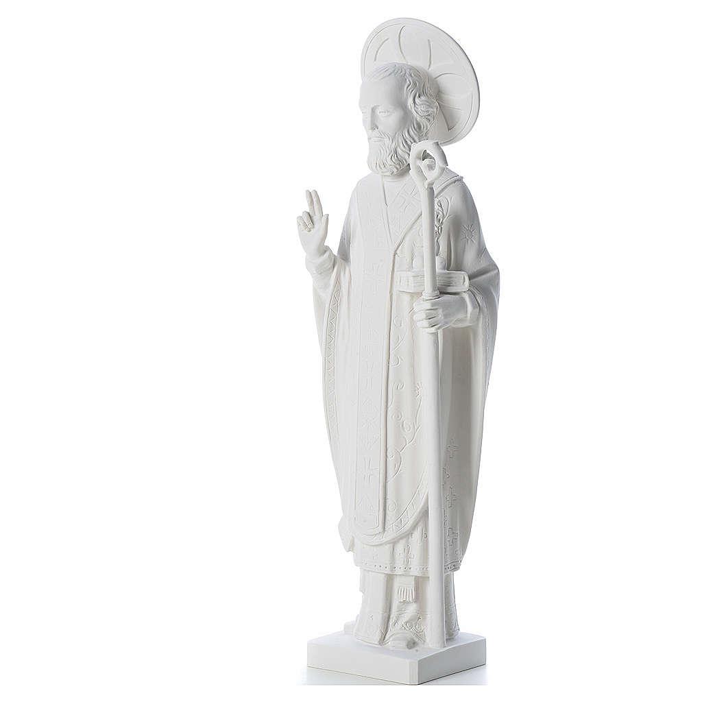 San Nicola 55cm de mármol blanco 4