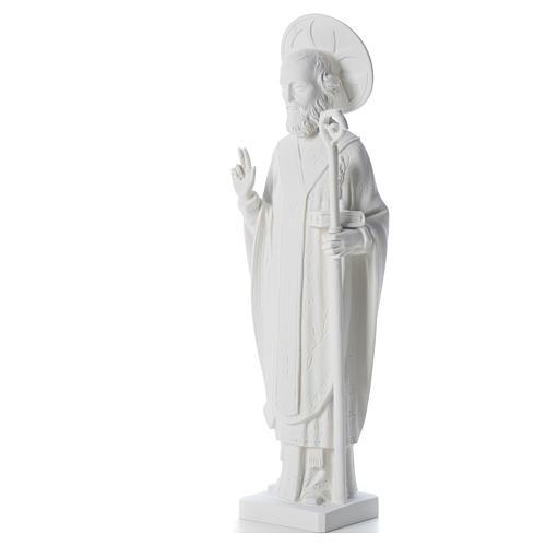 San Nicola 55cm de mármol blanco 6