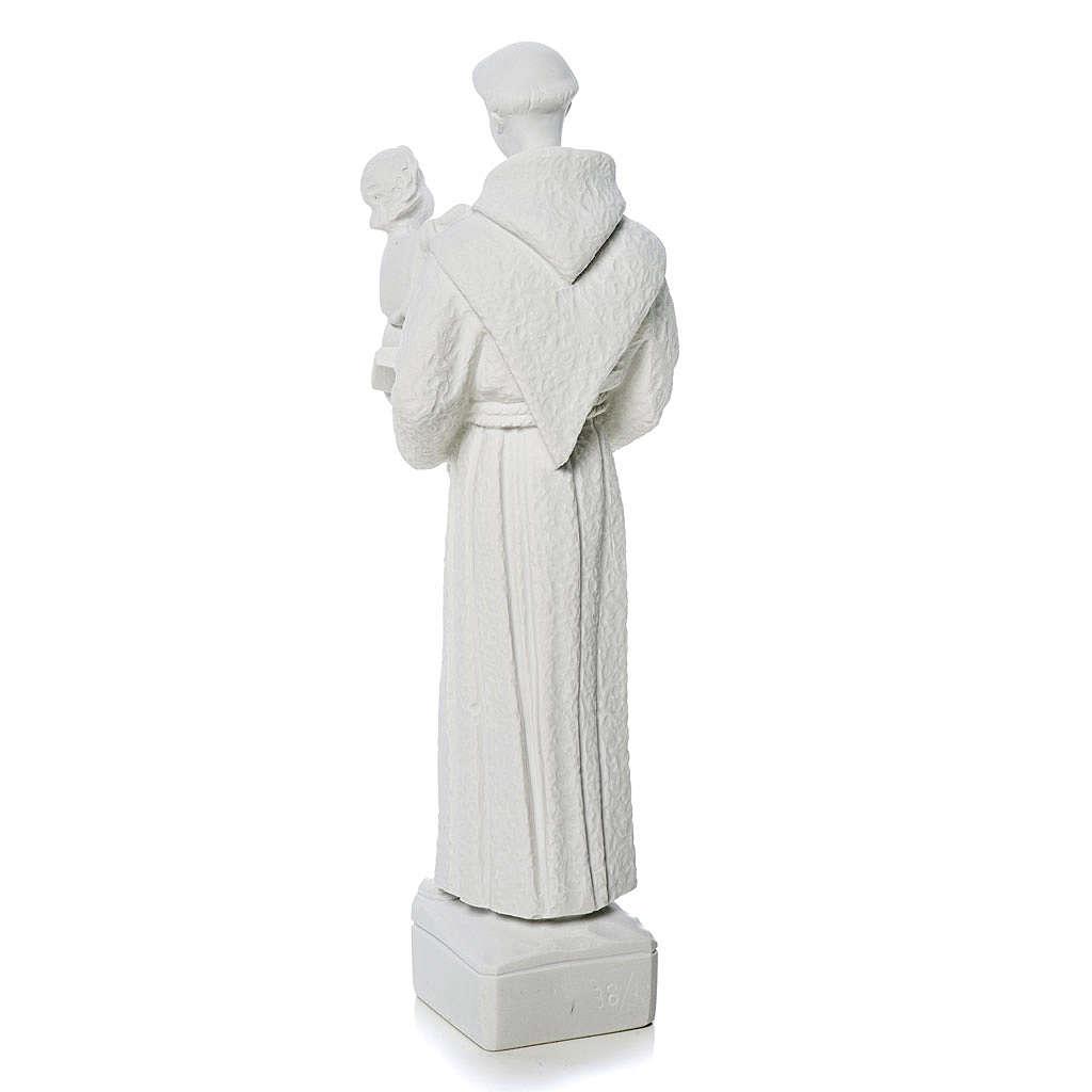 Saint Anthony of Padua statue in reconstituted Carrara marble 30 cm 4