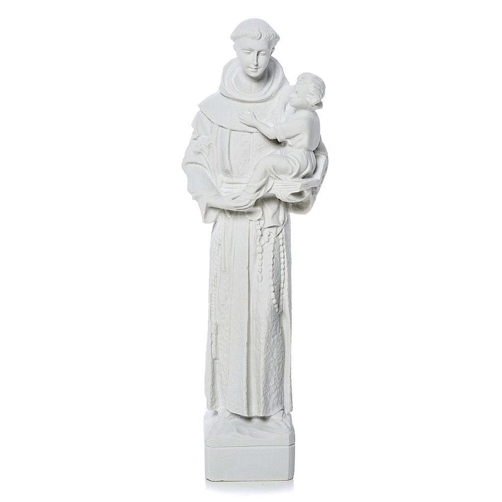 Sant'Antonio da Padova marmo bianco 30 cm 4