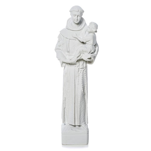 Sant'Antonio da Padova marmo bianco 30 cm 1