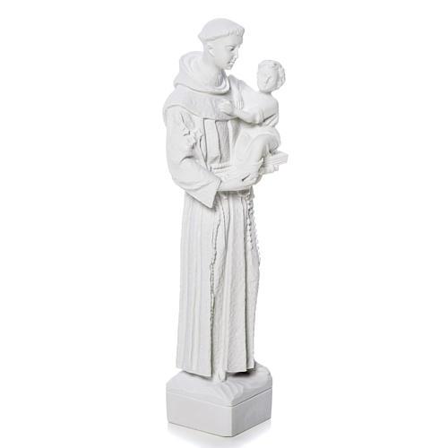 Sant'Antonio da Padova marmo bianco 30 cm 2