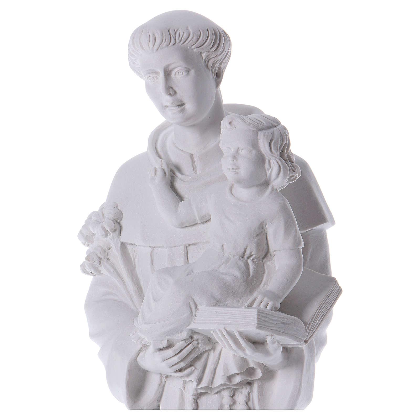 Saint Anthony of Padua in reconstituted Carrara marble 74-80 cm 4
