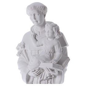 Saint Anthony of Padua in reconstituted Carrara marble 74-80 cm s2