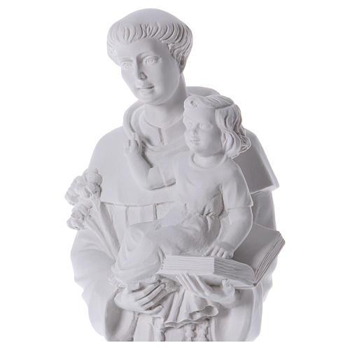 Saint Anthony of Padua in reconstituted Carrara marble 74-80 cm 2