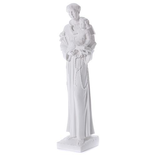 Saint Anthony of Padua in reconstituted Carrara marble 74-80 cm 3