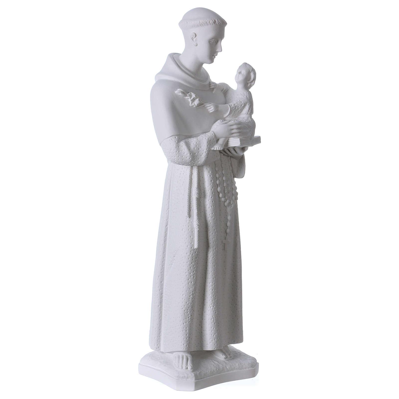 Saint Anthony of Padua, 60cm composite Carrara marble statue 4