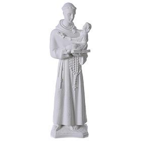 Saint Anthony of Padua, 60cm composite Carrara marble statue s1