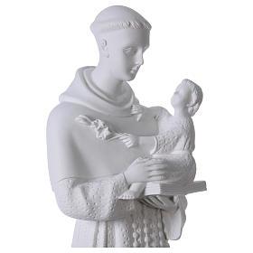 Saint Anthony of Padua, 60cm composite Carrara marble statue s2