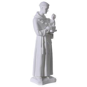 Saint Anthony of Padua, 60cm composite Carrara marble statue s4