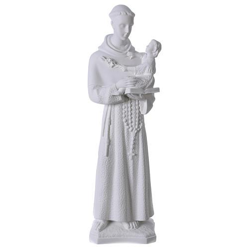 Saint Anthony of Padua, 60cm composite Carrara marble statue 1