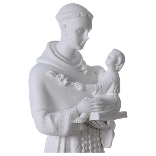 Saint Anthony of Padua, 60cm composite Carrara marble statue 2