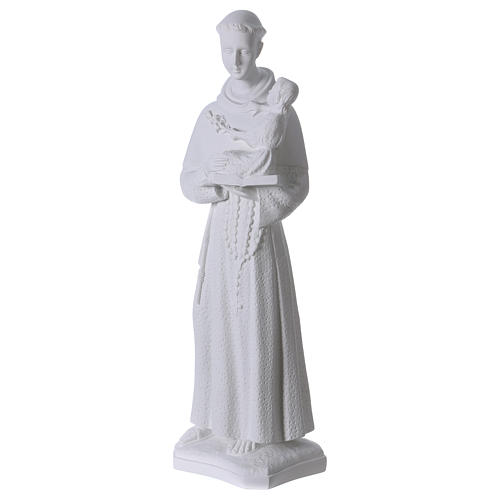 Saint Anthony of Padua, 60cm composite Carrara marble statue 3