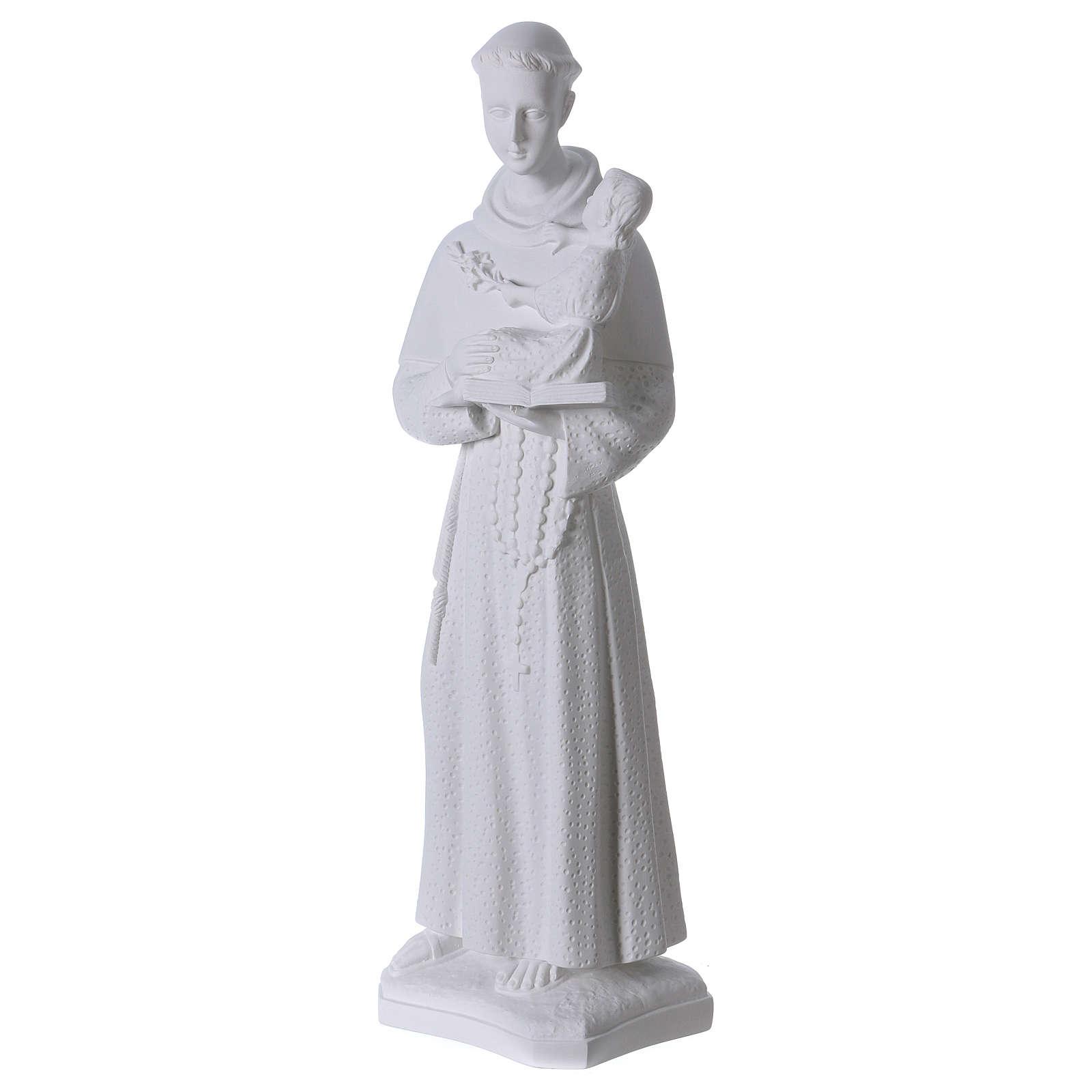 Sant'Antonio da Padova 60 cm polvere di marmo 4