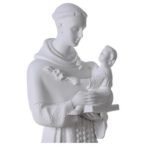 Sant'Antonio da Padova 60 cm polvere di marmo 2