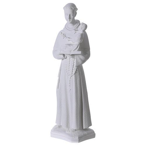 Sant'Antonio da Padova 60 cm polvere di marmo 3