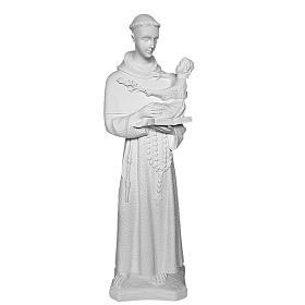 Saint Anthony of Padua, 60cm reconstituted Carrara marble statue s2