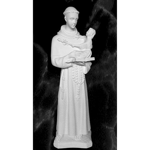 Saint Anthony of Padua, 60cm reconstituted Carrara marble statue 1