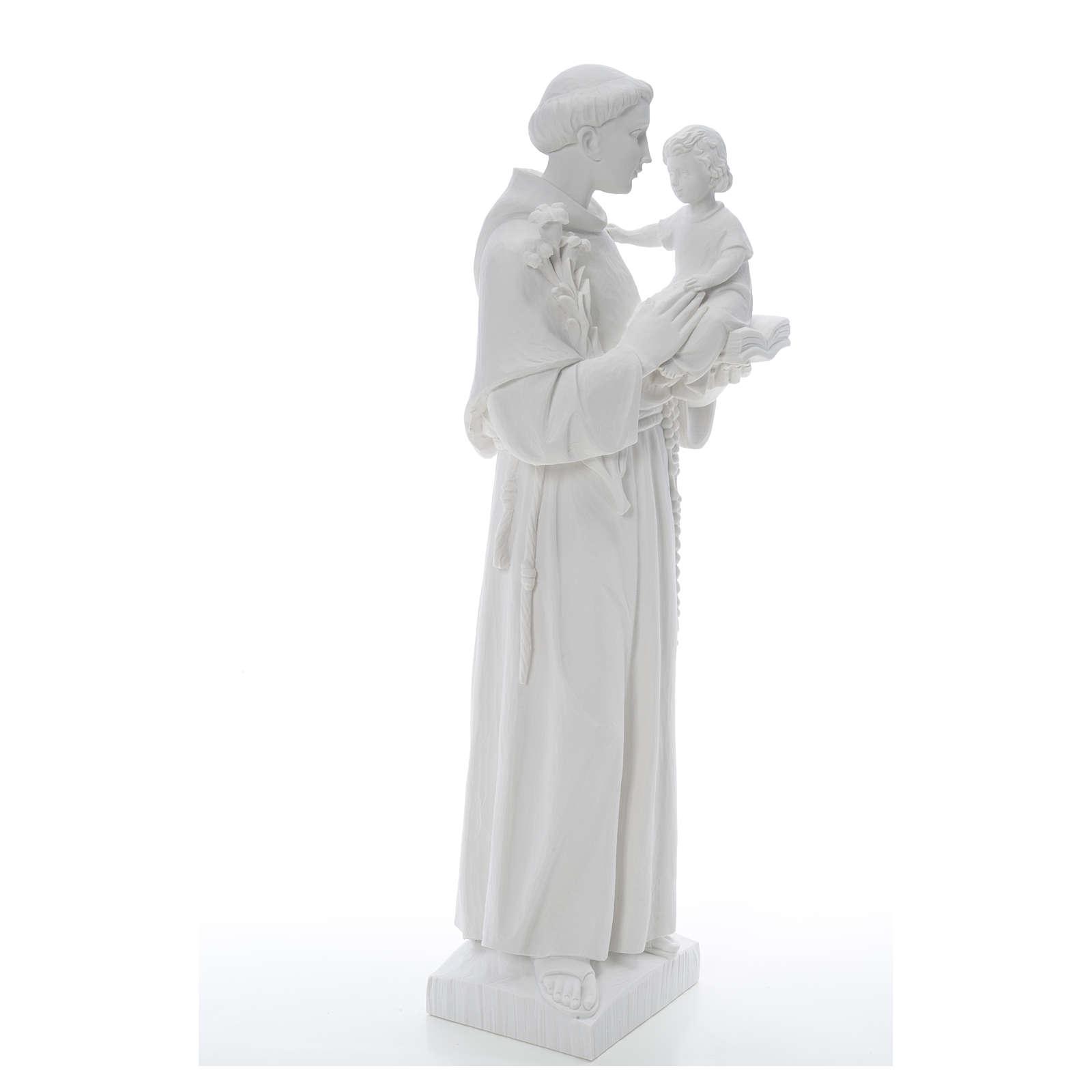 Estatua de San Antonio 65cm de mármol 4
