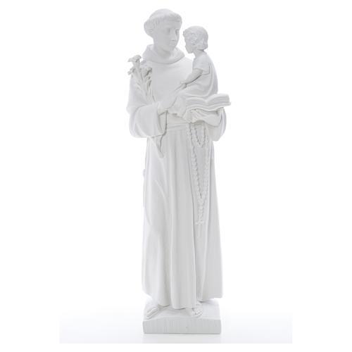 Estatua de San Antonio 65cm de mármol 5