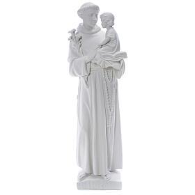 Statua Sant'Antonio 65 cm marmo bianco s1