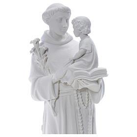 Statua Sant'Antonio 65 cm marmo bianco s2