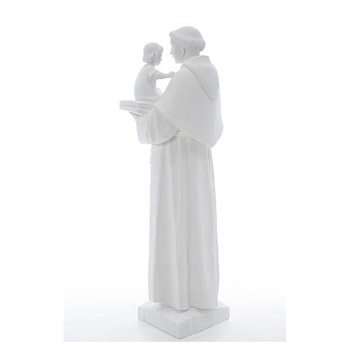 Statua Sant'Antonio 65 cm marmo bianco 3