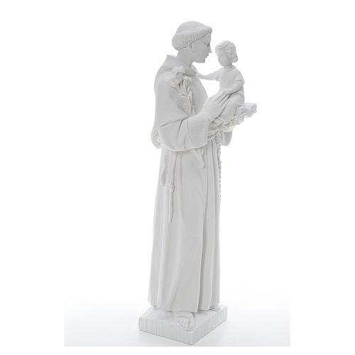 Statua Sant'Antonio 65 cm marmo bianco 4