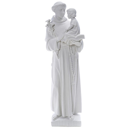 Statua Sant'Antonio 65 cm marmo bianco 1