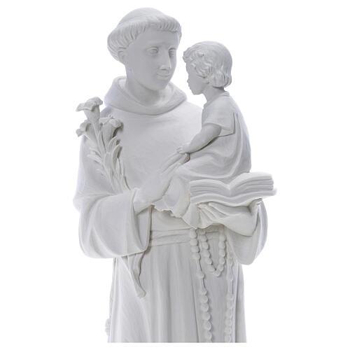 Statua Sant'Antonio 65 cm marmo bianco 2
