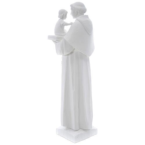 Statua Sant'Antonio 65 cm marmo bianco 5