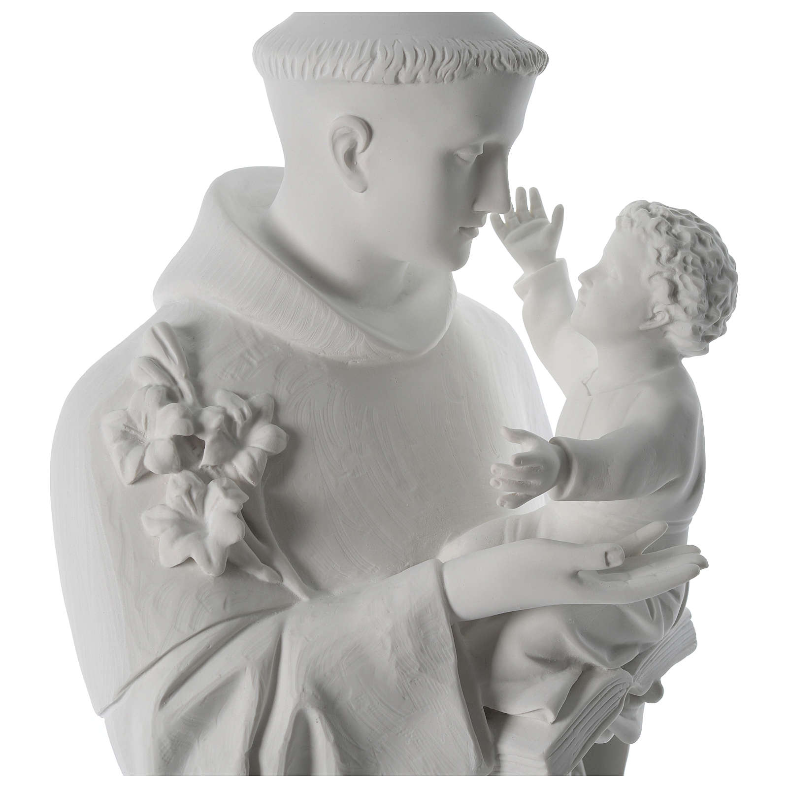 Saint Anthony reconstituted Carrara marble statue 100 cm 4